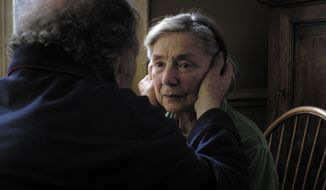 "This image released by Sony Pictures Classics shows Emmanuelle Riva in a scene from ""Amour."" (Associated Press/Sony Pictures Classics)"