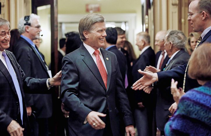 ** FILE ** Virginia Gov. Bob McDonnell opens the 2013 General Assembly session. (Associated Press)