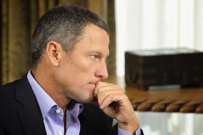 Whether Lance Armstrong seemed contrite in his confession about doping is up to the viewers, Oprah Winfrey says about her interview with the fallen cyclist. (Harpo Studios Inc. via Associated Press)