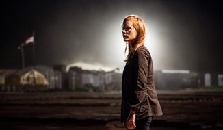 "Jessica Chastain earned an Oscar nomination for best actress for her portrayal of a young, obsessed CIA operative driving the search for Osama bin Laden in Columbia Pictures' new thriller ""Zero Dark Thirty."" (Columbia Pictures)"