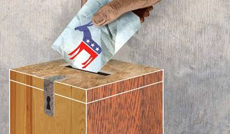 Illustration Felon Voting by Greg Groesch for The Washington Times