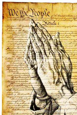 Illustration Constitutional Prayer by Greg Groesch for The Washington Times
