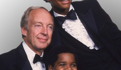 """** FILE ** This Sept. 13, 1981, file photo shows stars of the television show """"Different Strokes,"""" clockwise from foreground, Gary Coleman, Conrad Bain and Todd Bridges at the Emmy Awards in Los Angeles. (AP Photo, file)"""