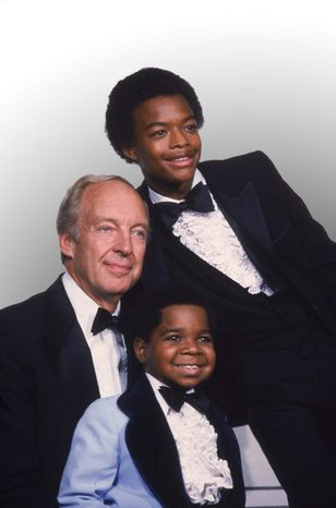 "** FILE ** This Sept. 13, 1981, file photo shows stars of the television show ""Different Strokes,"" clockwise from foreground, Gary Coleman, Conrad Bain and Todd Bridges at the Emmy Awards in Los Angeles. (AP Photo, file)"