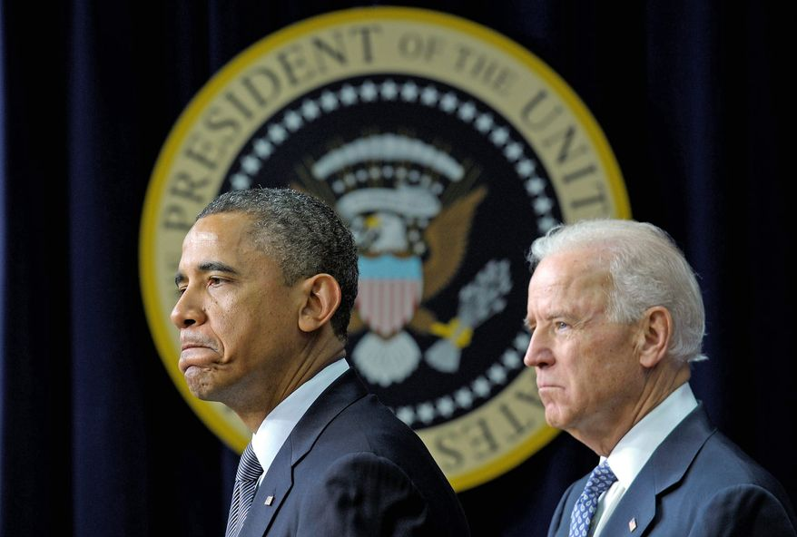 """This is our first task as a society, keeping our children safe,"" President Obama said Wednesday as he and Vice President Joseph R. Biden announced their legislative and executive agenda to curb gun violence in America. (Associated Press)"