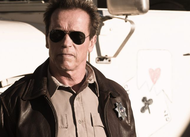 """Arnold Schwarzenegger plays an Arizona sheriff battling a Mexican drug gang in """"The Last Stand,"""" his first lead role since 2003, when he became governor of California. (Lionsgate via Associated Press)"""
