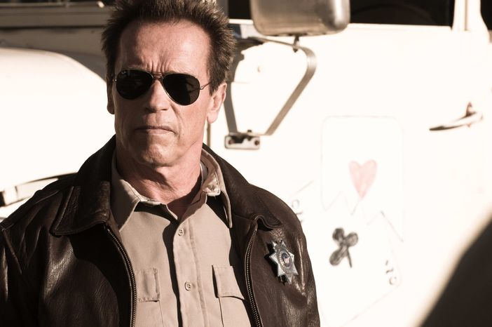 "** FILE ** This publicity film image released by Lionsgate shows Arnold Schwarzenegger in a scene from, ""The Last Stand."" (AP Photo/Lionsgate, Merrick Morton, File)"