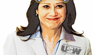 Illustration Hilda Solis by Greg Groesch for The Washington Times