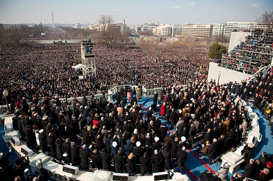 ** FILE ** President Barack Obama is sworn in during his inauguration as the 44th President of the United States at the Capitol in Washington, D.C. Tuesday, Jan. 20, 2009. (Michael Connor/The Washington Times)