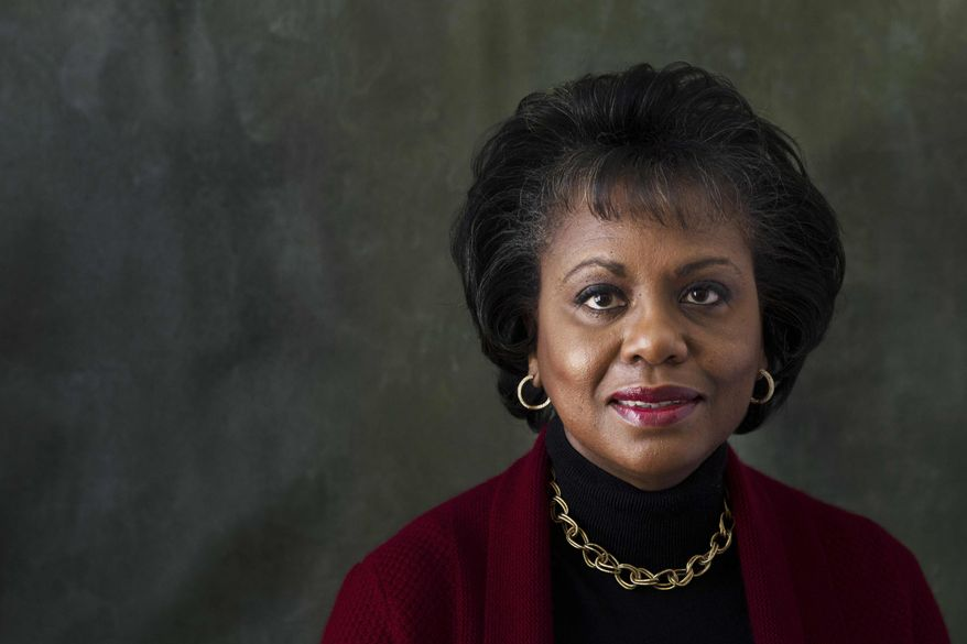 """Anita Hill poses for a portrait during the Sundance Film Festival on Friday, Jan. 18, 2013, in Park City, Utah. Hill made national headlines in 1991 when she testified that then-Supreme Court nominee Clarence Thomas had sexually harassed her. Now, more than 20 years later, director Freida Mock explores Hill's landmark testimony and the resulting social and political changes in the documentary """"Anita,"""" premiering Saturday at the Sundance Film Festival. (Photo by Victorial Will/Invision/AP)"""