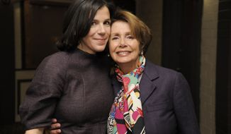 "Alexandra Pelosi (left), director of the HBO documentary film ""Fall to Grace,"" poses with her mother, House Minority Leader Nancy Pelosi, before a screening of the movie at the 2013 Sundance Film Festival on Friday, Jan. 18, 2013, in Park City, Utah. (Chris Pizzello/Invision/AP)"