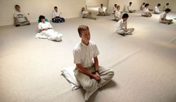 The Maharishi Foundation in Fairfied, Iowa, has taught transcendental meditation for decades. Thom Knoles, a former associate who left and built his own group of followers, is battling the foundation for the ability to market similar services without obtaining a license from the group. (Associated Press)