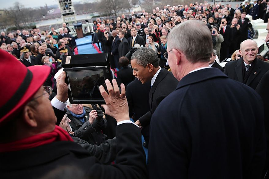 U.S. President Barack Obama arrives during the presidential inauguration on the West Front of the U.S. Capitol January 21, 2013 in Washington, DC.   Barack Obama was re-elected for a second term as President of the United States.  (Photo by POOL Win McNamee/Getty Images)