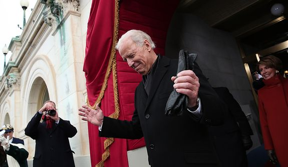 U.S. Vice President Joe Biden arrives during the presidential inauguration on the West Front of the U.S. Capitol January 21, 2013 in Washington, DC.   Barack Obama was re-elected for a second term as President of the United States.  (Photo by POOL Win McNamee/Getty Images)