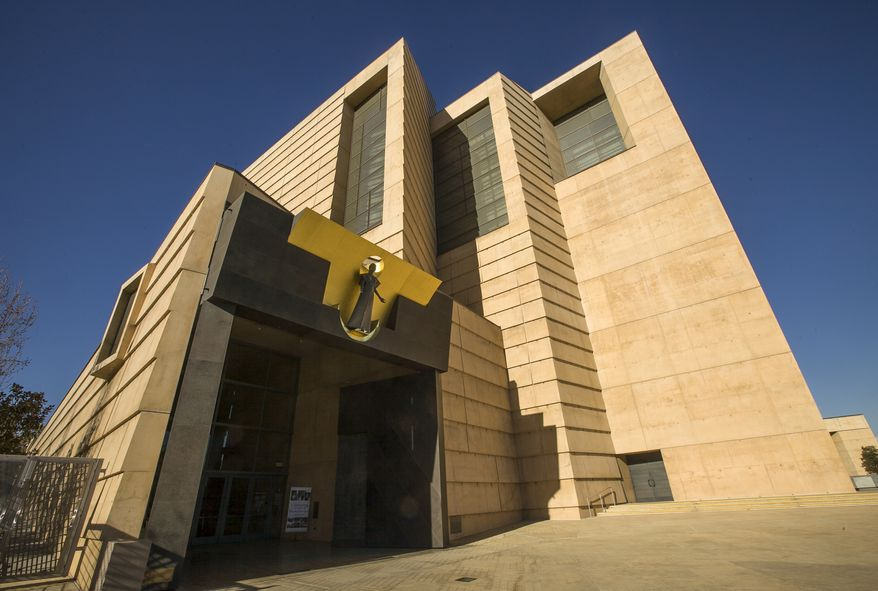 The Cathedral of Our Lady of the Angels is the seat of the Roman Catholic archbishop of Los Angeles. (AP Photo/Damian Dovarganes)