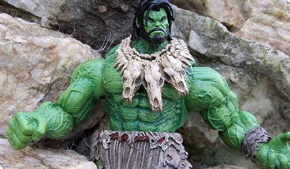 Diamond Select Toys' Marvel Select: Barbarian Hulk in the wild (Photograph by Joseph Szadkowski / The Washington Times)