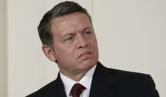 King Abdullah II of Jordan (Associated Press) ** FILE **