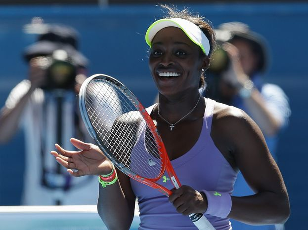 On Wednesday at the Australian Open, 19-year-old Sloane Stephens defeated her hero Serena Williams, 3-6, 7-5, 6-4 to advance to the semifinals in Melbourne, Australia. (Associated Press)