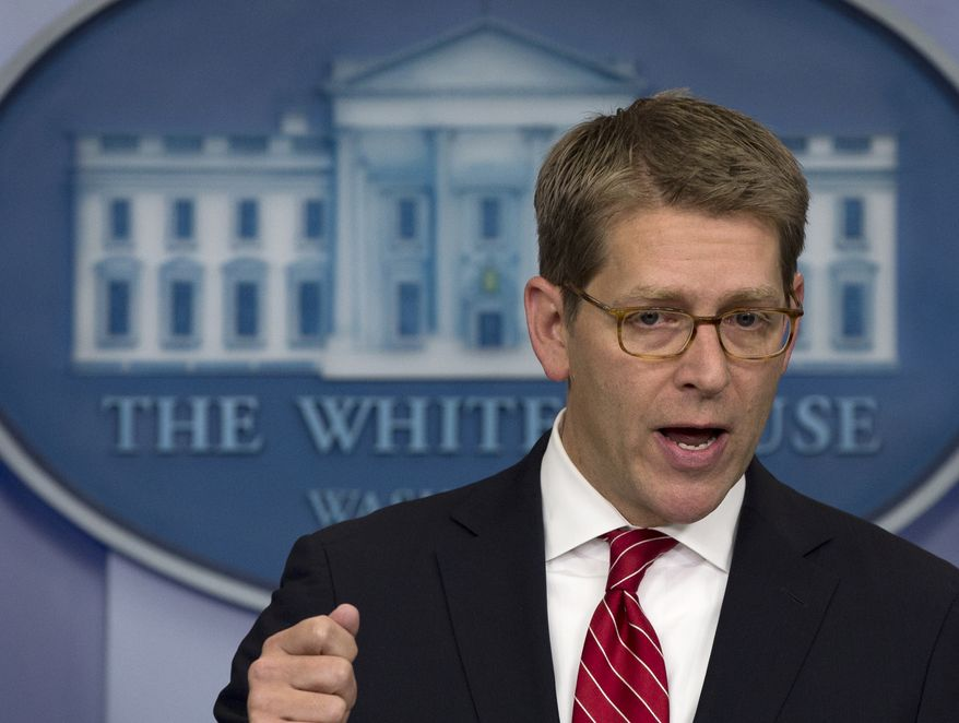 White House press secretary Jay Carney refused Wednesday to say whether President Obama would expend political capital to back climate-change legislation, despite Mr. Obama's remarks on the topic in his inaugural speech. (Associated Press)