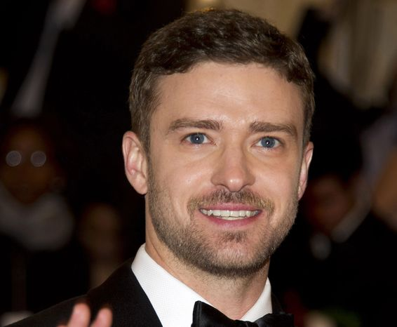 **FILE** Singer-actor Justin Timberlake attends a gala benefit for the Metropolitan Museum of Art's Costume Institute in New York in May 2012. (Associated Press)