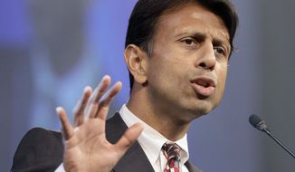 **FILE** Louisiana Gov. Bobby Jindal speaks July 27, 2012, in Hot Springs, Ark. (Associated Press)