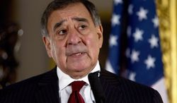 **FILE** Defense Secretary Leon E. Panetta speaks Jan. 19, 2013, during a news conference in London. (Associated Press)