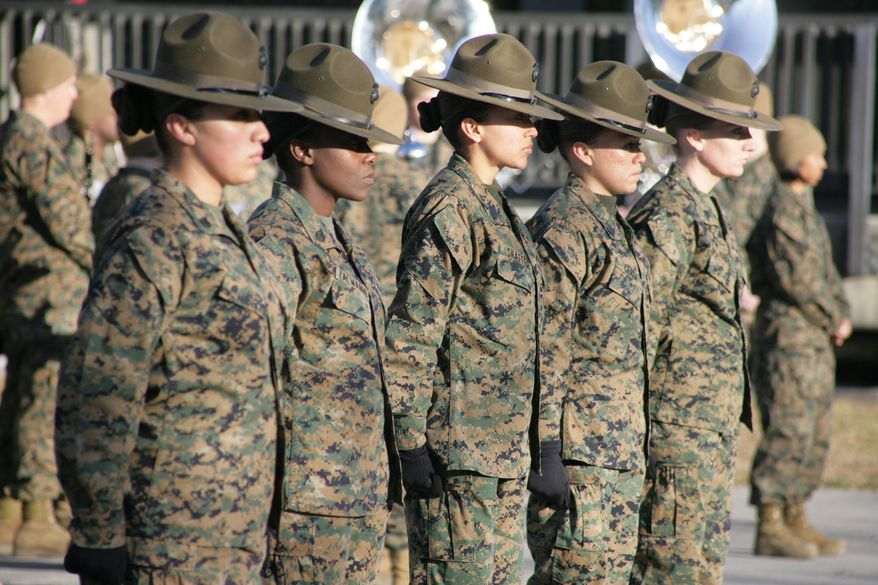 No amount of bragging rights about diversity in the ranks is worth failure in a mission or injury to our warriors, says columnist Christy Stutzman. If the standards are lowered for women Marines, what makes the institution elite? (U.S. Marine Corps)