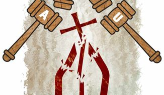 Illustration ACLU Assaults Freedom by Greg Groesch for The Washington Times