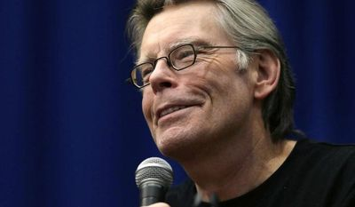 ** FILE ** This Dec. 7, 2012, file photo shows novelist Stephen King speaking to creative writing students at the University of Massachusetts-Lowell in Lowell, Mass. (AP Photo/Elise Amendola, file)
