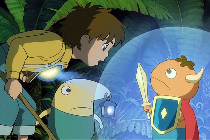 Oliver and Mr. Drippy meet Mitey in the video game Ni no Kuni: Wra