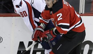 Marcus Johansson has a minus-5 rating through four games for the Washington Capitals. (Associated Press)