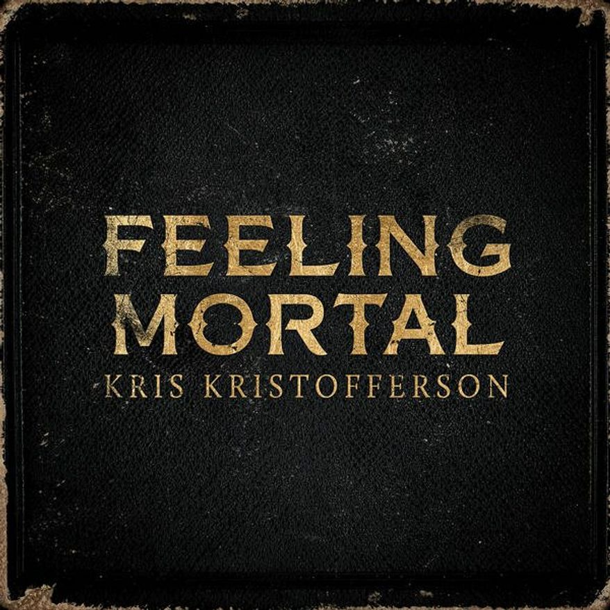 "Cover art for Kris Kristofferson's ""Feeling Mortal"""
