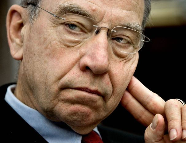 """""""Technology produced by A123 and funded by U.S. taxpayers should not simply be shipped off to China so that the military applications"""" can be reproduced abroad, said Sen. Chuck Grassley. (Associated Press)"""