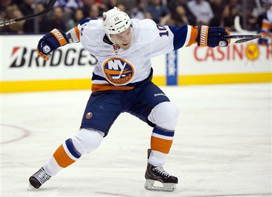"Keith Aucoin on being claimed off waivers by the New York Islanders: ""I was excited. I knew I was going to get an opportunity."" (Associated Press)"