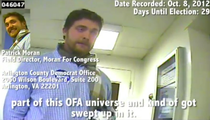 A video circulated online by Project Veritas appeared to show Patrick Moran, the son of Virginia Rep. James P. Moran Jr., giving a man advice on how to commit voter fraud.