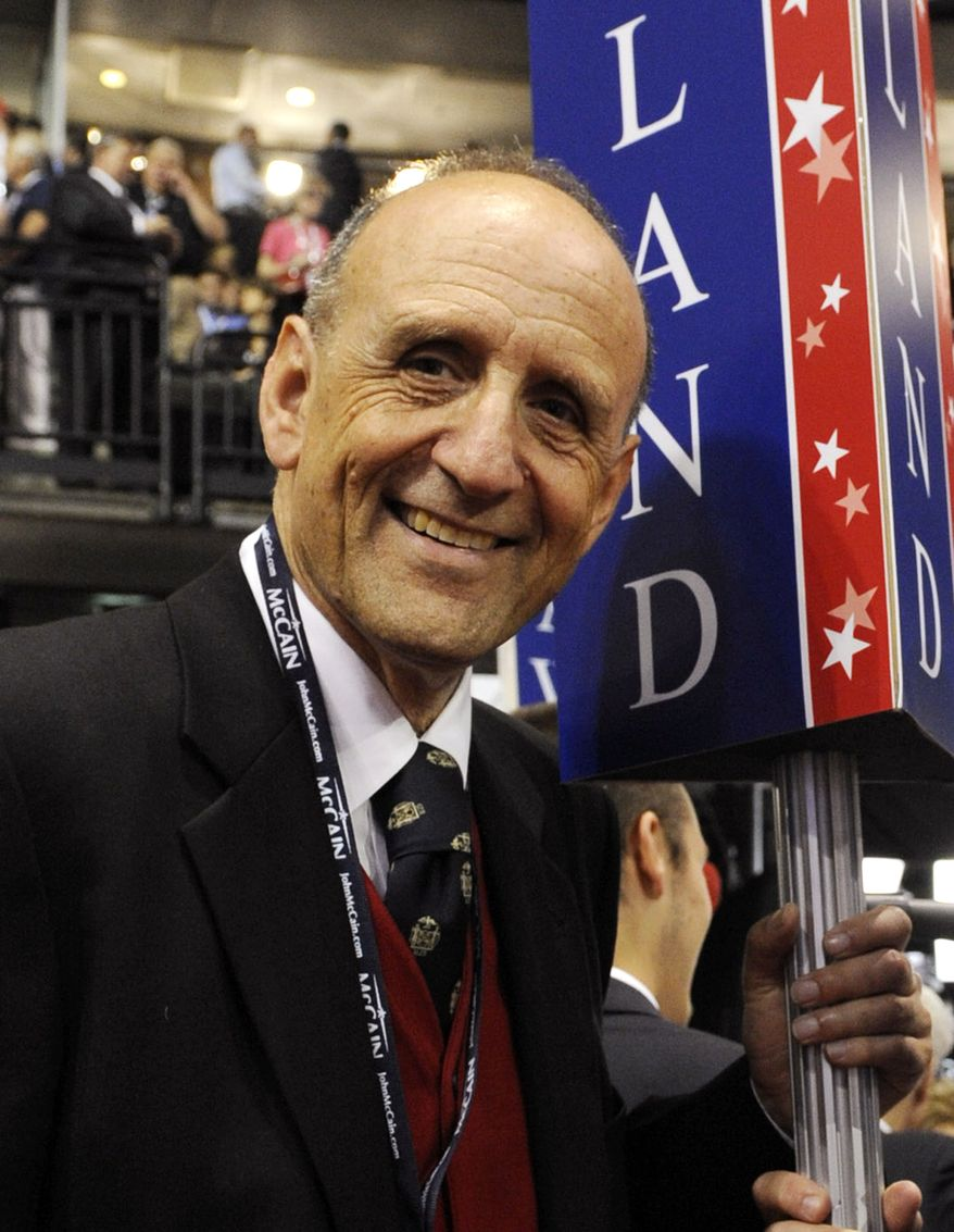 **FILE** Maryland delegate John R. Leopold stands on the floor of the Republican National Convention in St. Paul, Minn., on Sept. 1, 2008. (Associated Press)