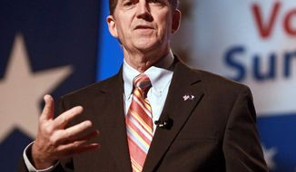 The Senate Conservatives Fund, founded by then-Sen. Jim DeMint (left) in 2008, is already criticizing the Conservative Victory Project, a new super PAC organized by American Crossroads, the sleek 2012 fundraising machine that boasted Karl Rove as point man. (Associated Press)