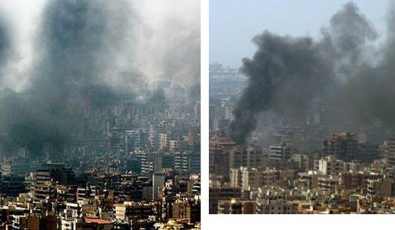 A 2006 series of photographs taken by Lebanese freelance photographer and Reuters correspondent Adnan Hajj appeared to show multiple smoke plumes over Beirut following an Israeli attack and an Israeli fighter jet firing several ground attack missiles over Southern Lebanon. 