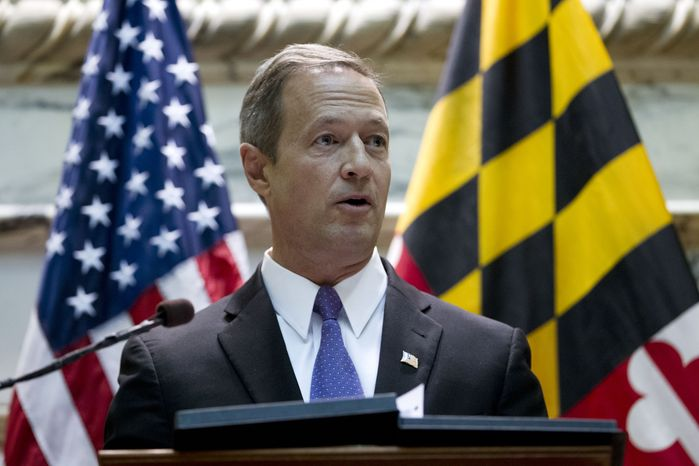 **FILE** Maryland Gov. Martin O'Malley delivers his speech before the state's general assembly during his State of the State address in Annapolis on Jan. 30, 2013. (Associated Press)