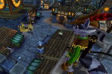 Our master thief explores a 13th century English village in the PlayStation 3 video game Sly Cooper: Thieves in Time.