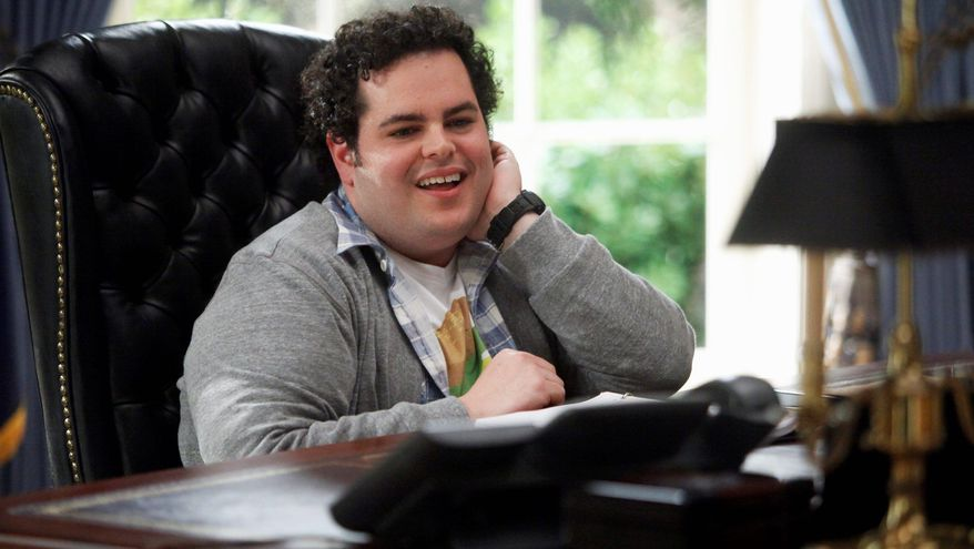 "Silliness prevails at the White House in ""1600 Penn"" thanks to Josh Gad to a great extent. He plays the president's son. (NBC via Associated Press)"
