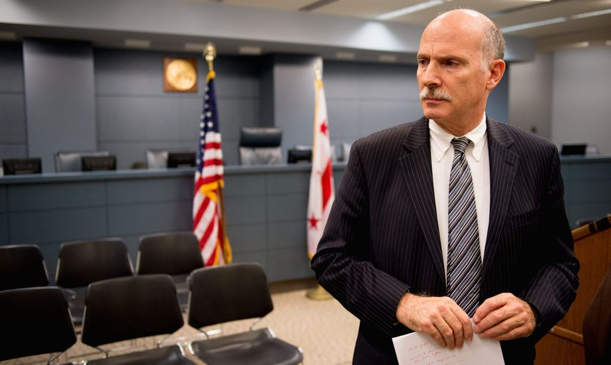 """""""I agreed to hold a public roundtable, in effect a hearing, and it will be open to the public,"""" said Phil Mendelson, D.C. Council chairman. (Andrew Harnik/The Washington Times)"""