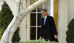**FILE** President Obama walks out of the Oval Office and heads to Marine One on the South Lawn of the White House in Washington on Feb. 4, 2013. (Associated Press)