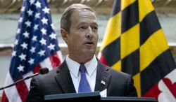 Maryland Gov. Martin O'Malley delivers his speech before the state's General Assembly during his State of the State address in Annapolis, Md., on Wednesday, Jan. 30, 2013. (AP Photo/Jose Luis Magana)