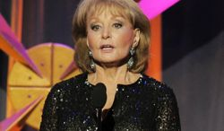 **FILE** Barbara Walters presents an award onstage at the 39th Annual Daytime Emmy Awards in Beverly Hills, Calif., on June 23, 2012. (Chris Pizzello/Invision/Associated Press)