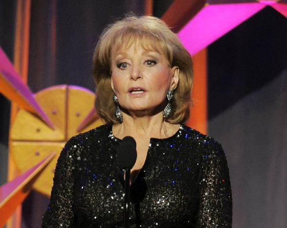 **FILE** Barbara Walters presents an award onstage at the 39th Annual Daytime Emmy Awards in Beverly Hills, Calif., on June 23, 2012. (Chris Pizz