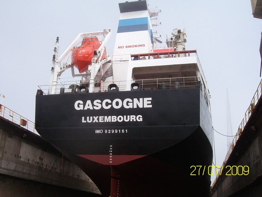 This undated photo provided Monday, Jan. 4, 2013, by Sea Tanker Shipping shows the French-owned oil tanker Gascogne. (AP Photo/Sea Tanker Shipping)