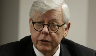 **FILE** David Keene, president of the National Rifle Association, speaks during an exclusive interview with Associated Press reporters in Denver on Feb. 7, 2013. (Associated Press)