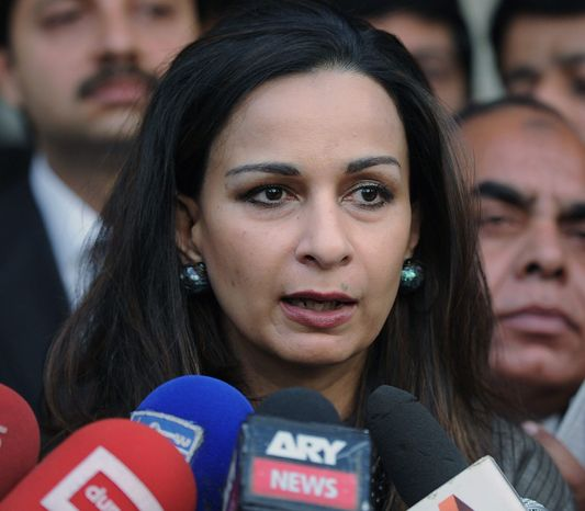 "Pakistani Ambassador Sherry Rehman insists that her government has never approved of drone strikes, not even with a private ""wink and nod."" (Associated Press)"