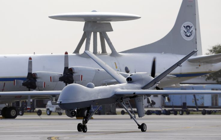 **FILE** A Predator B unmanned aircraft (Associated Press)